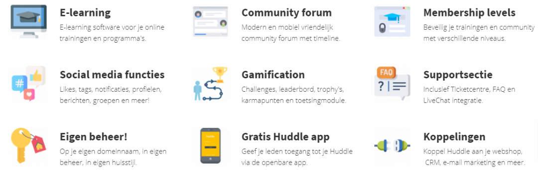 Huddle community software