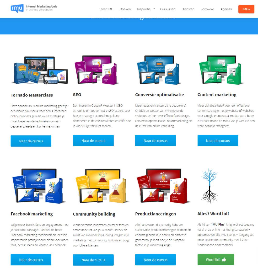 IMU.nl Alle Online Marketing cursussen
