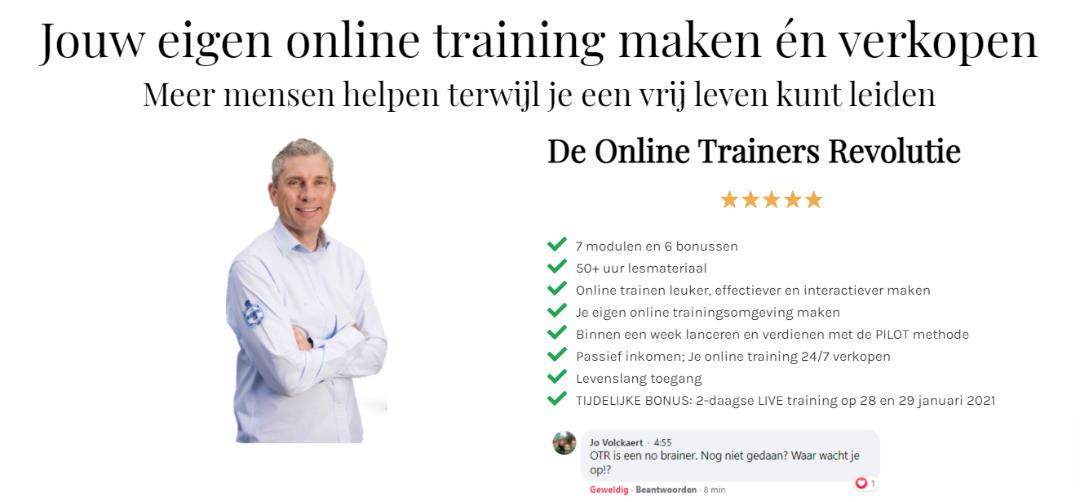 Jouw eigen Online Training maken en verkopen met de Online Trainers Revolutie
