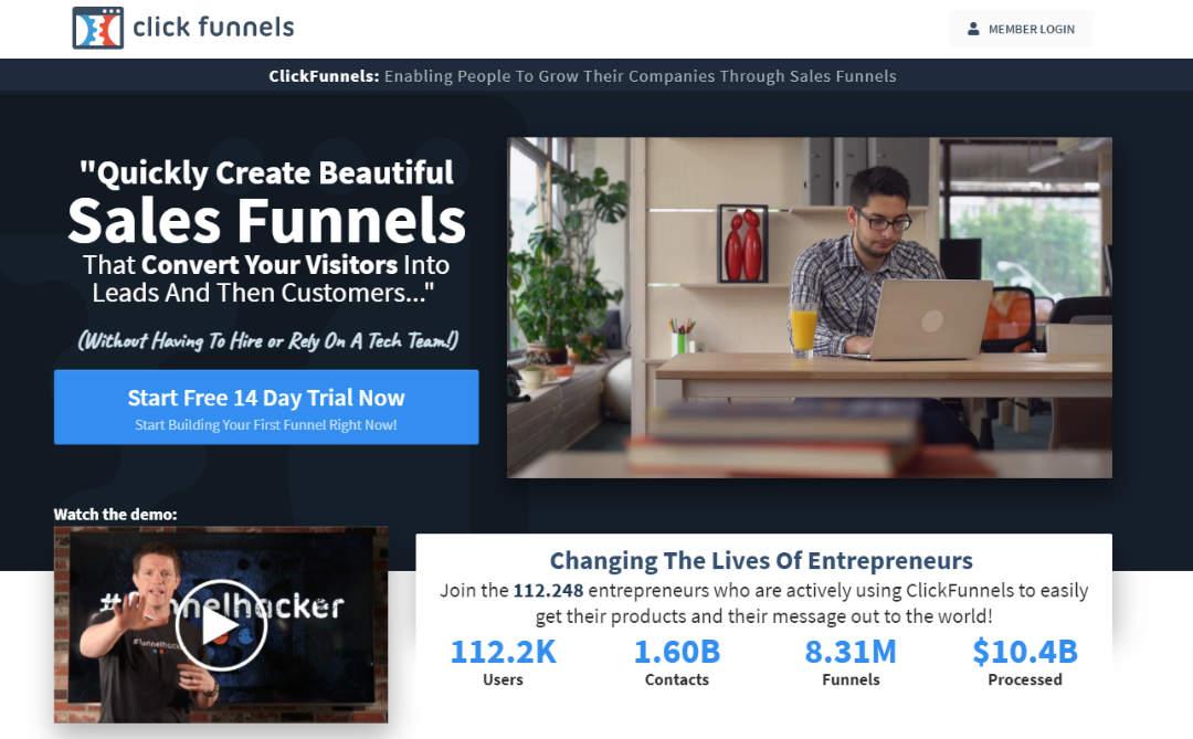 Marketing Funnels maken met Clickfunnels
