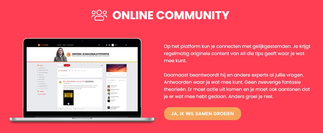 Online Community van Ikwilgroeien