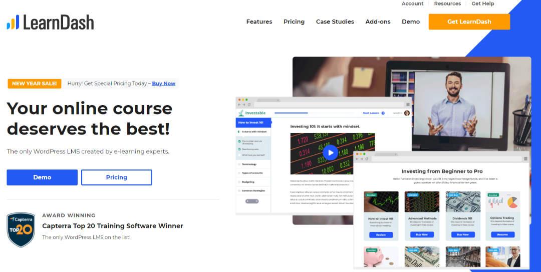ontwikkel en verkoop je online training met Learndash