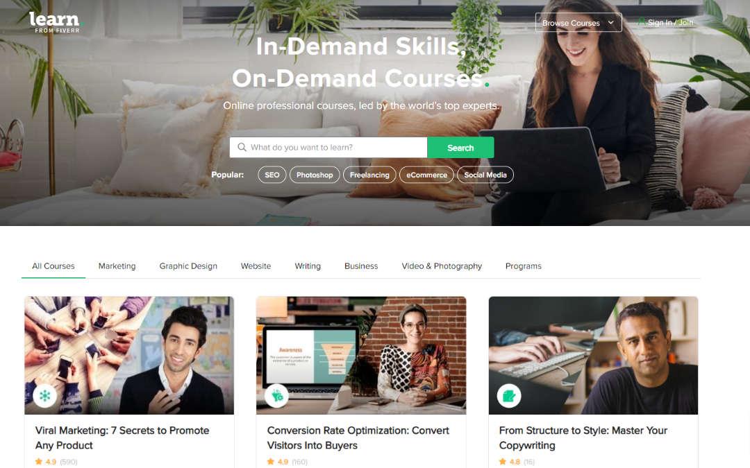 Aanbod Learn From Fiverr Online trainingen