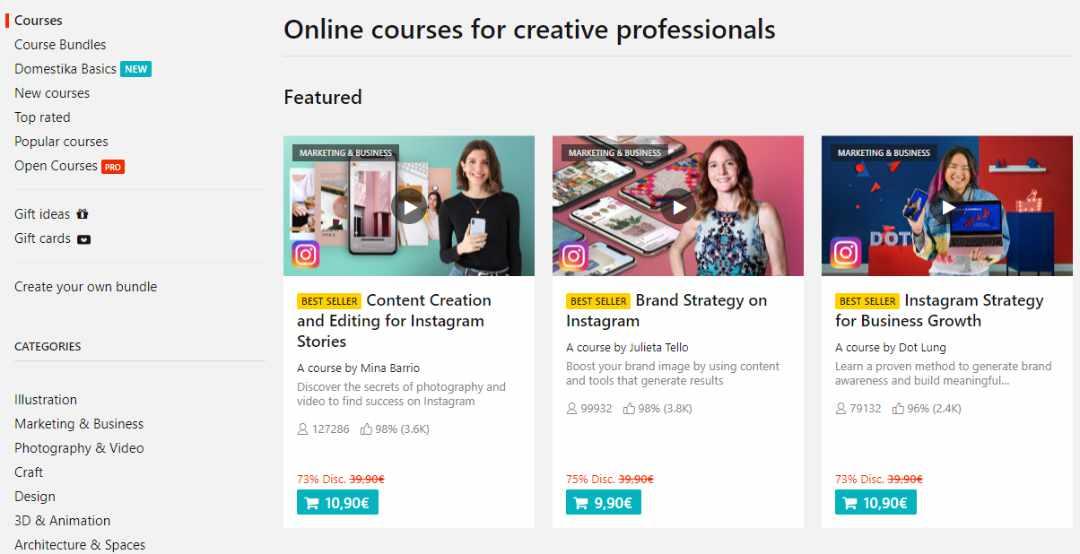 Creatieve Online Trainingen Domestika