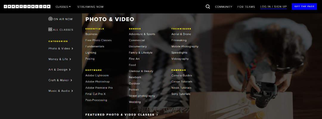 Creativelive categorieën