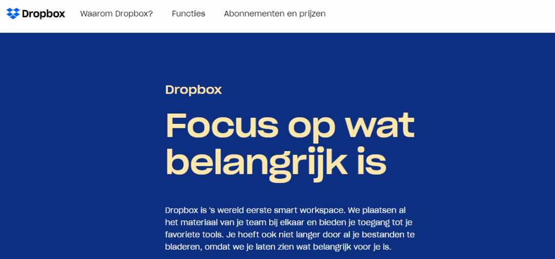 Dropbox Overal en altijd toegang tot jouw bestanden
