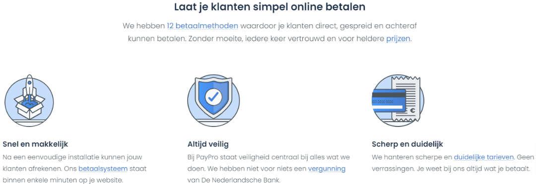 Laat je klanten veilig en online betalen met PayPro