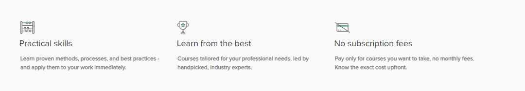 Learn From Fiverr voordelen. Praktisc. Hoge kwaliteit en geen abbonnementen