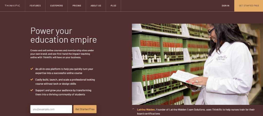 Maak promoot en verkoop je eigen online training met Thinkific