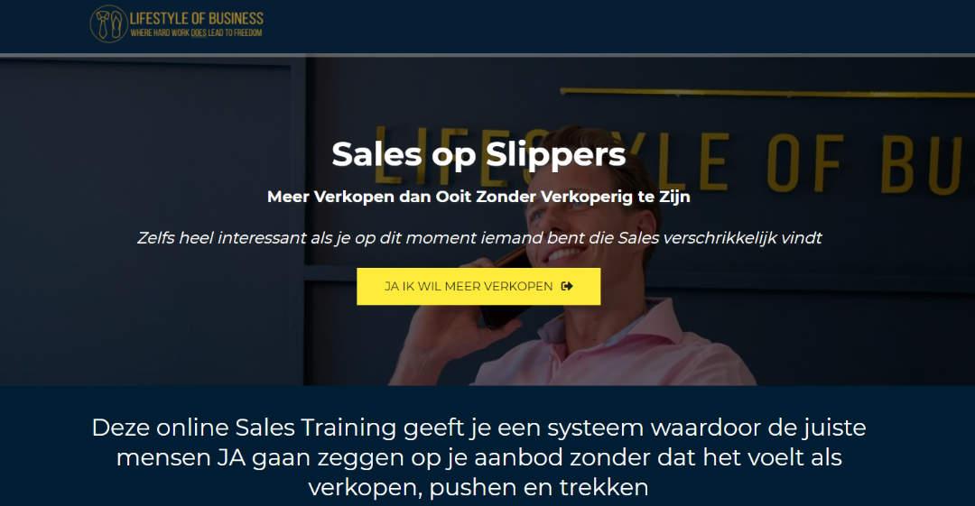 Online Training Sales op Slippers Meer verkopen dan ooit zonder verkoperig te zijn