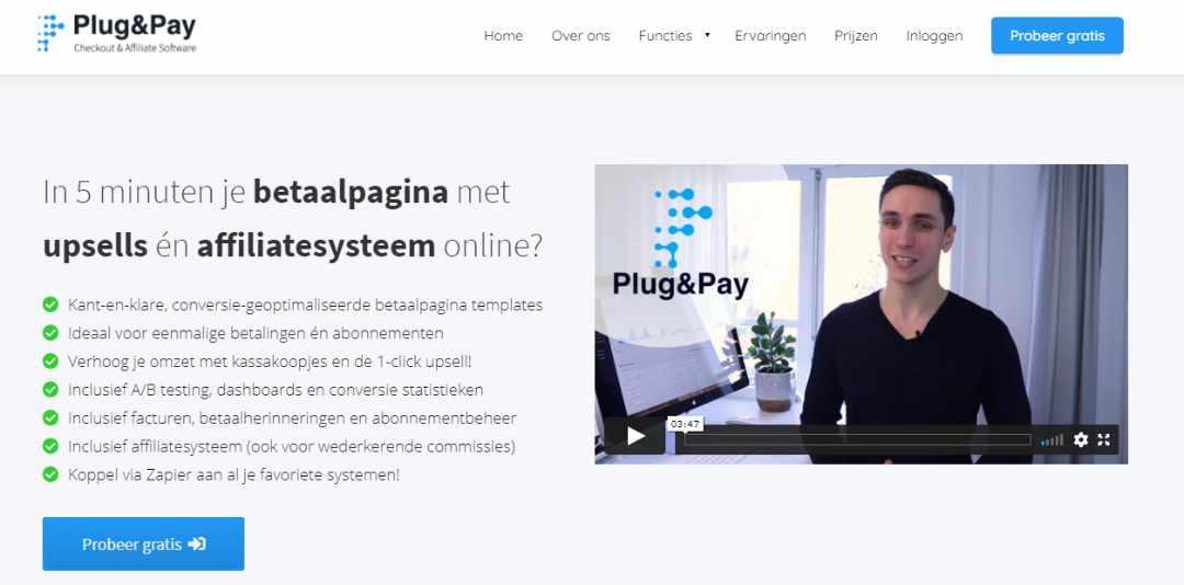 Plug&pay checkout en affiliate software