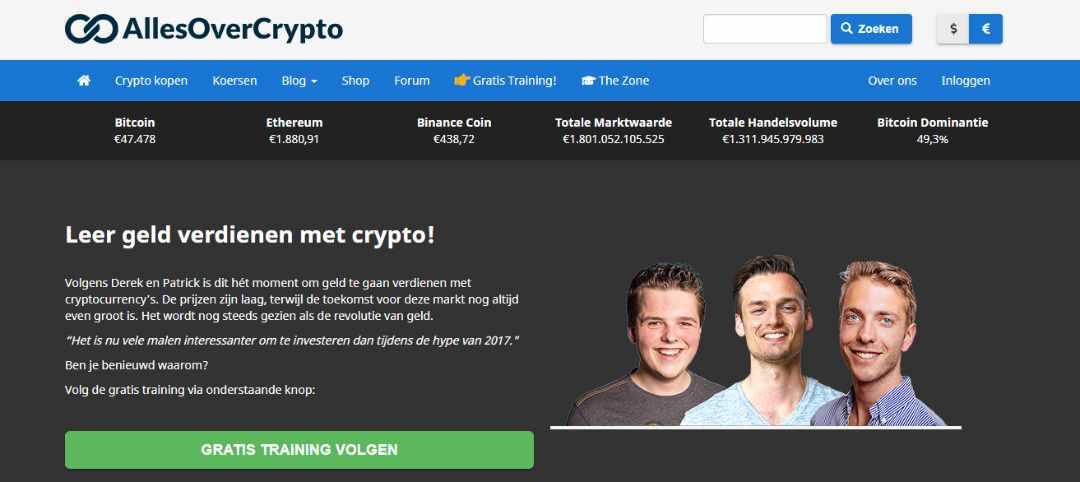 AllesOverCrypto Bitcoin Crypto koers verkopen en tips