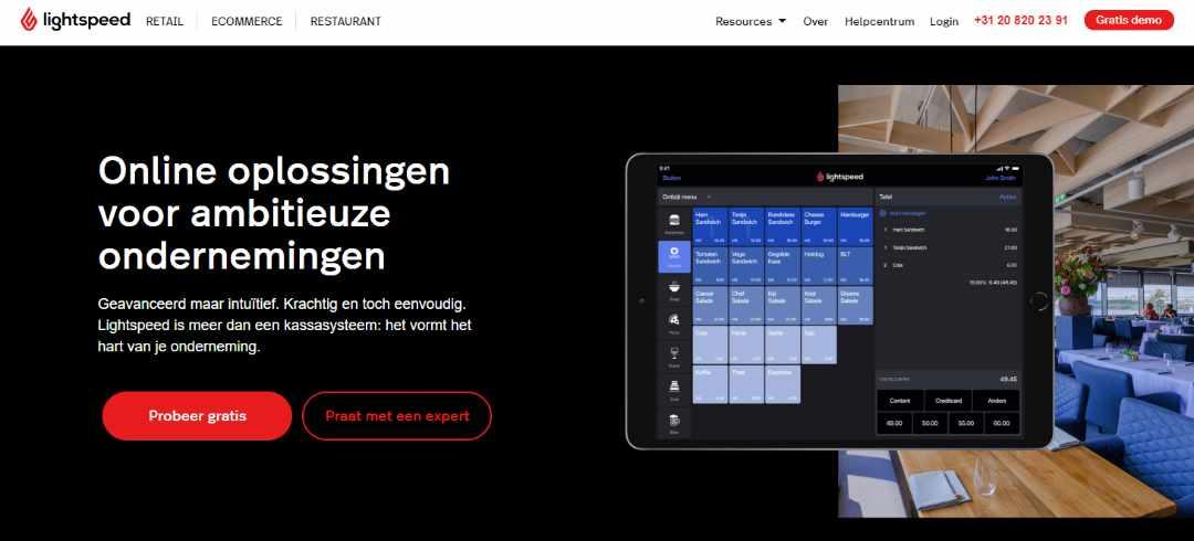 Lightspeed Kassasystemen en webshop software Lightspeed