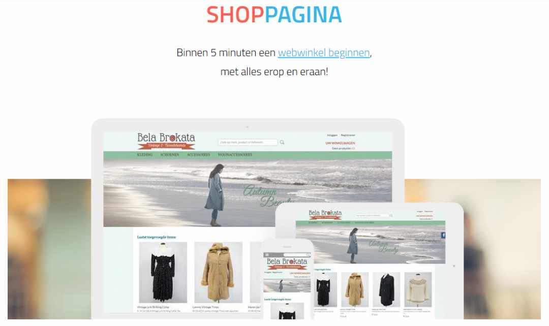 Maak je eigen webshop met Shoppagina