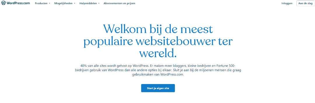 Wordpress Creëer je eigen prachtige website op WordPress